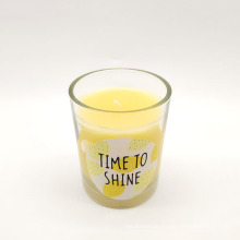Wholesale Scented Beautiful Glass Cup Aroma Candle Cup Candle