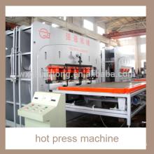 Semiautomático de ciclo corto máquina de prensa caliente / tablero de aglomerado laminado máquina de prensa caliente