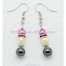 Magnetic Hematite Pearl Beads Earrings