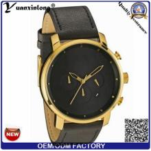 Yxl-381 Fashion Mens New Style Ladies Watches Gold Plated Leather Elegant Vogue Mvmt Quartz Watch