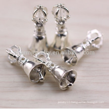 sef065 DIY silver jewelry findings, trend 925 sterling sliver charm Christmas bell&crown&dumbbell for bracelets pendants