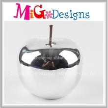 Handmade Absorbing Sliver Apple Ceramic Coin Bank