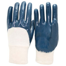 NMSAFETY Heavy duty 3/4 coated nitrile gloves chemical industry work gloves