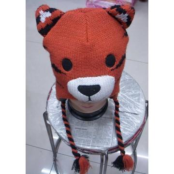 Nuevo diseño moda tejido acrílico sombrero animal