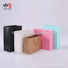 bolso de compras de papel colorido popular de la venta caliente