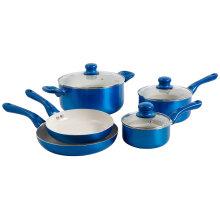 Amazon Vendor 8 Piece Nonstick Ceramic Cookware Set Blue