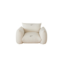 Contemporary Marenco Fabric Lounge Armchair Single Sofa