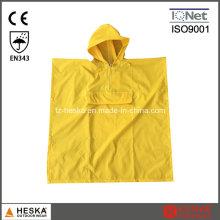 Poncho de chuva de crianças para crianças casaco de PVC colorido