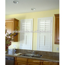 Wood plantation window shutters for kitchen/dining room/living room