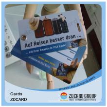 Cartão cheio do PVC do plástico da impressão do negócio da cor completa