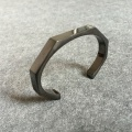 Titanium Curve Open Mens Miansai Bangle