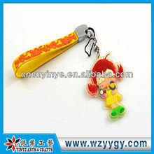 Popular OEM soft PVC phone hanging for promotional gift