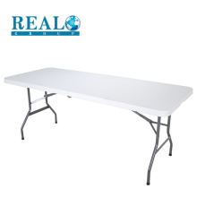 183cm HDPE plastic easy folding table metal leg the latest outdoor table designs