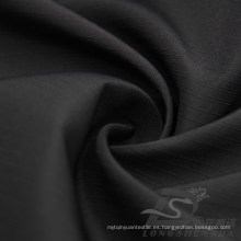 Resistente al agua y al aire libre ropa deportiva al aire libre Chaqueta tejida Pongee piel de melocotón rayado Jacquard 100% tela de poliéster (63026)