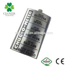 64 oz de aço inoxidável de soldagem a laser quadril frasco