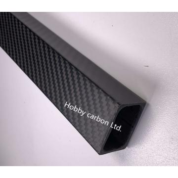 tubo cuadrado personalizado de alta resistencia de fibra de carbono