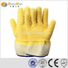 Guantes de seguridad guantes de caucho amarillo para la minería