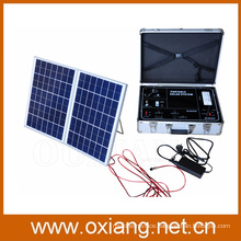 High Quality Portable Home solar lighting system with 38W soar panel system