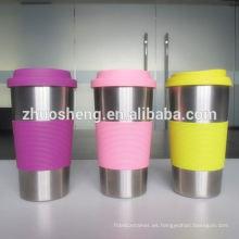 tazas plásticas promocionales de alta calidad de impresión de la insignia de encargo