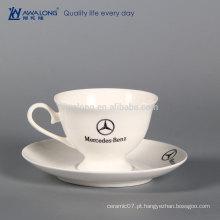 Projeto original Design imprimível branco seu próprio copo de café cerâmico, Benz personalizado Cup