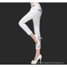 Venta caliente estilo largo de moda pantalones casuales para la señora