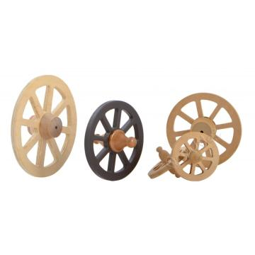 Dollhouse Miniature Wooden Wagon Wheels