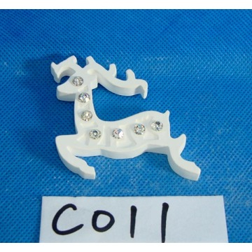 Plaster Reindeer with Bead for Christmas Decoration