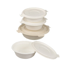 New Arrival  in USA &Europe market bagasse pulp lunch box 450ml 550ml 650ml with lid