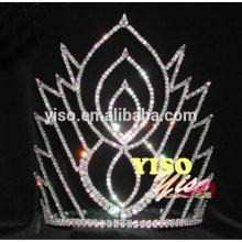 decorated classic flower crystal adult austrian tiara