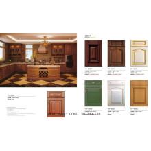 Европейский стиль ПВХ Мембранный МДФ шкаф Кухонный кабинет (новая модель)