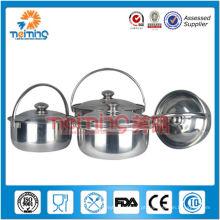 Conjunto de pote de cozinha de aço inoxidável 8pcs multi-função