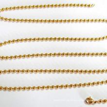Jóias de aço inoxidável Cadeia de ouro personalizado bola