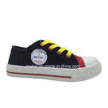 Zapatilla de deporte colorida de la lona de los niños (X164-S & B)