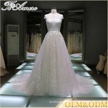 материнства платье линии свадебное платье свадебное 2017 Китай поставщик 3D кружева аппликация бальное платье Размер 18