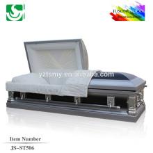 JS-ST506 luxury metal casket supplier