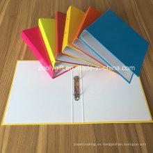 Color surtido A4 Carpeta de 2 anillas Carpetas de archivos de papel