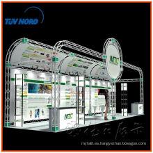 Diseño de cabina de exposición portátil a la medida 6 * 9, cabina de feria de braguero de aluminio