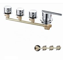 Factory 3 Function Shower Siamese Tap mixer shower faucets modern brass bathroom faucet