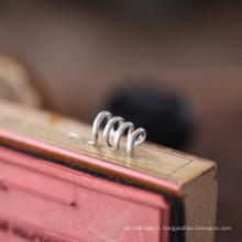 Boucles d'oreilles en argent sterling sans pendentif en forme de serpent