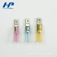 Terminal thermo-rétractable à languette à sertir en cuivre pur thermo-rétractable (entrée facile)