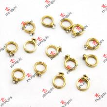 Кольцо с бриллиантом Плавающие обереги для свадебной темы Momery Locket (FC)