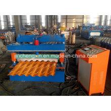 Farbige glasierte Stahlrollenformmaschine