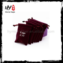 Fashion style velvet pearl pouch with low price