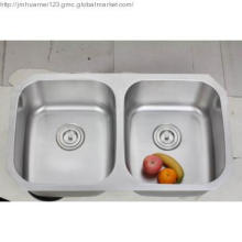 8247  cUPC 304 stainless steel double bowls kitchen sink