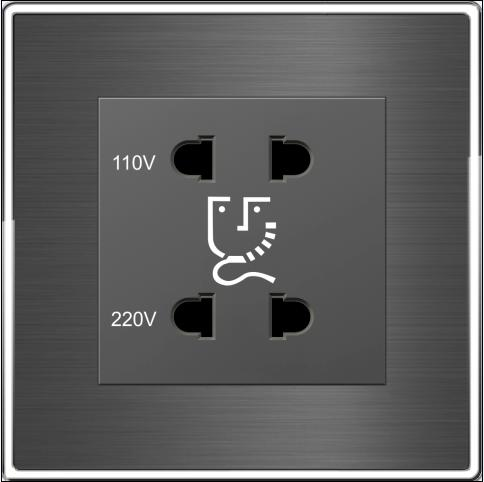 Wall Mounted Shaver Socket