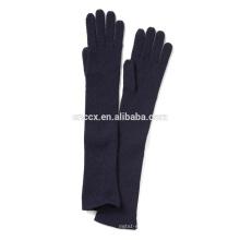 PK17ST040 China fornecedor atacado preço Mulheres Cashmere Ribbed Glove