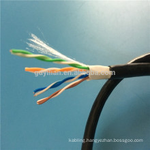 12. CCA 0.5 Conductor twisted 4 pairs cable cat5e outdoor lan cable