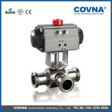 Fabricante Válvula pneumática de esfera de modo WCB / CF8 / CF8M / CF3 / CF3M