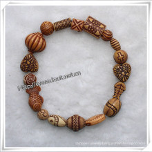 a Variety of Beads to Elastic by Random Beads Bracelets (IO-aj052)