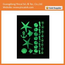 autocollant de tatouage de fluorescence de haute qualité
